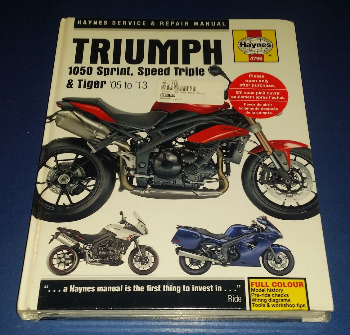 triumph st 1050 sprint 2005 2010 workshop manual