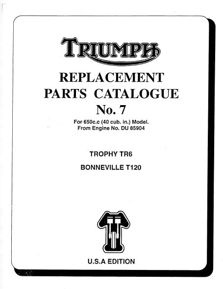 triumph parts books  u2013 baxter cycle