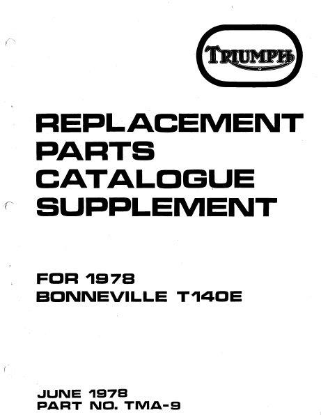 triumph parts books  u2013 baxter cycle
