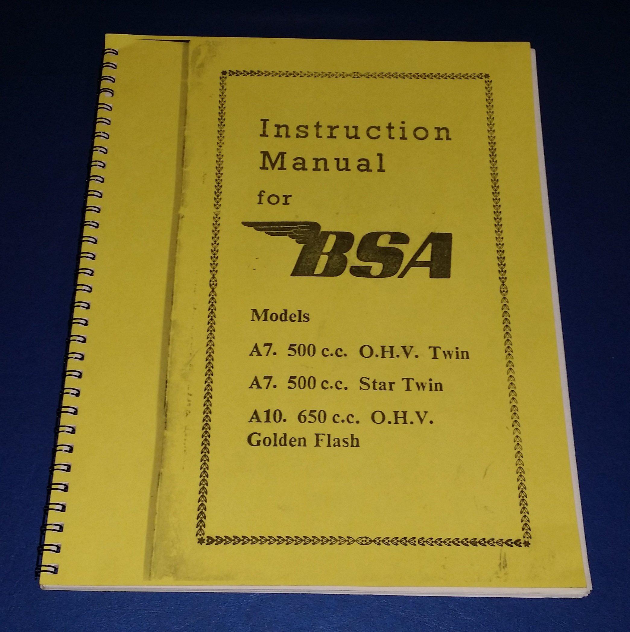 bsa a10 parts list pdf