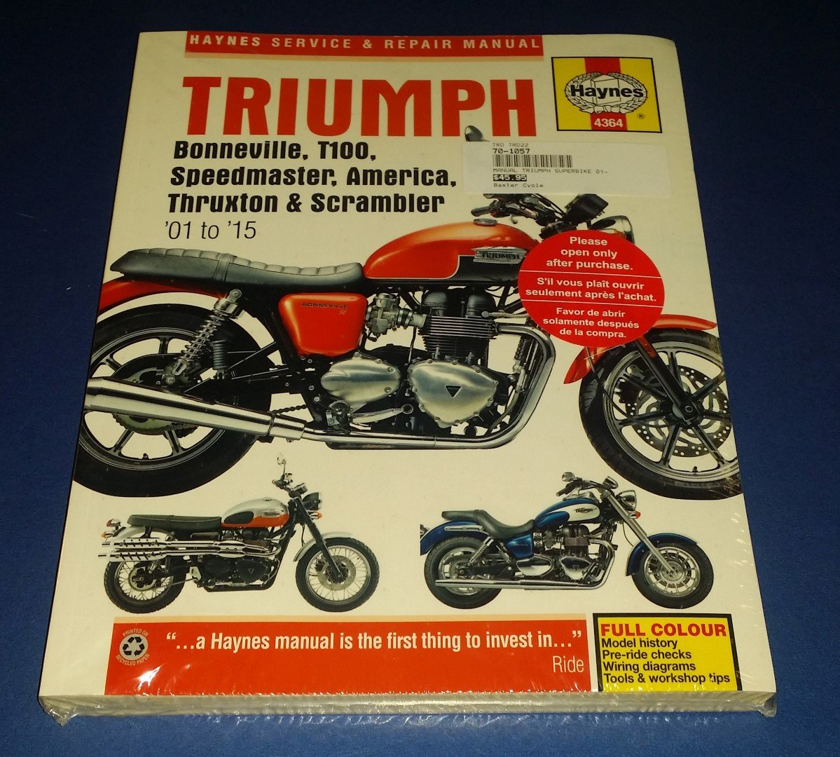 Triumph 2001 To 2015 Service Repair Manual Haynes Baxter Cycle. Wiring. Classic Triumph Motorcycle Engine Diagram At Scoala.co