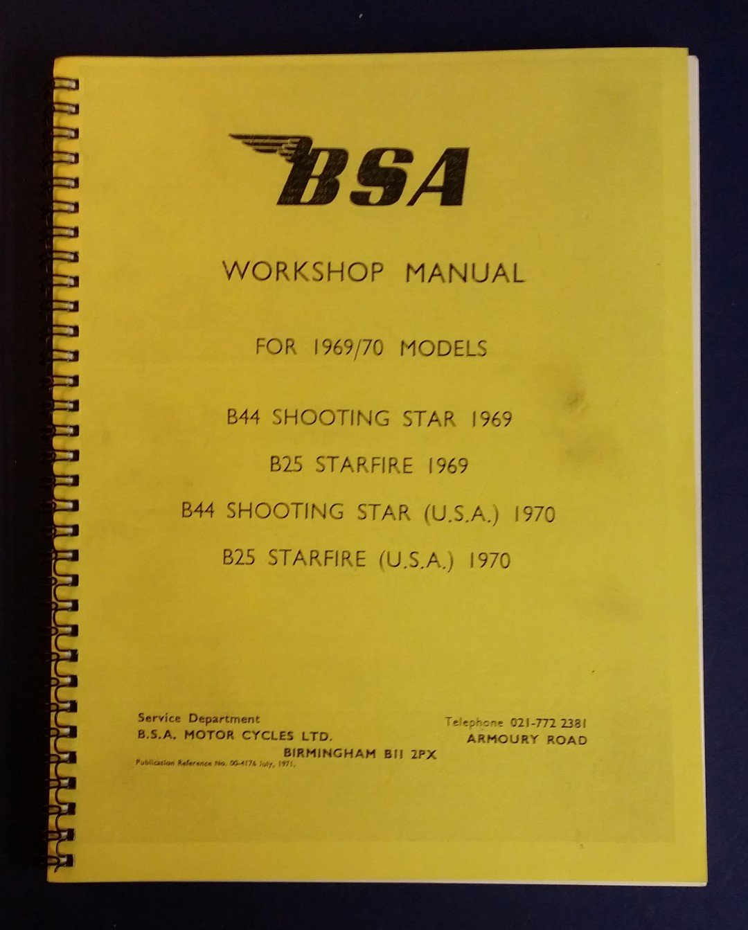 bsa c11 workshop manual pdf