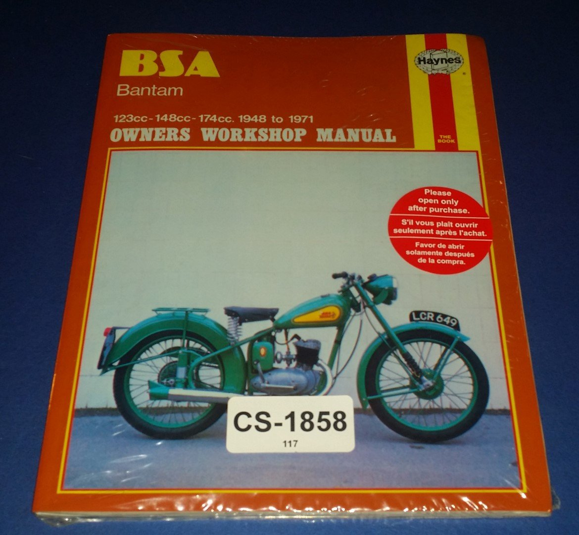 BSA Bantam Owners Workshop Manual ...