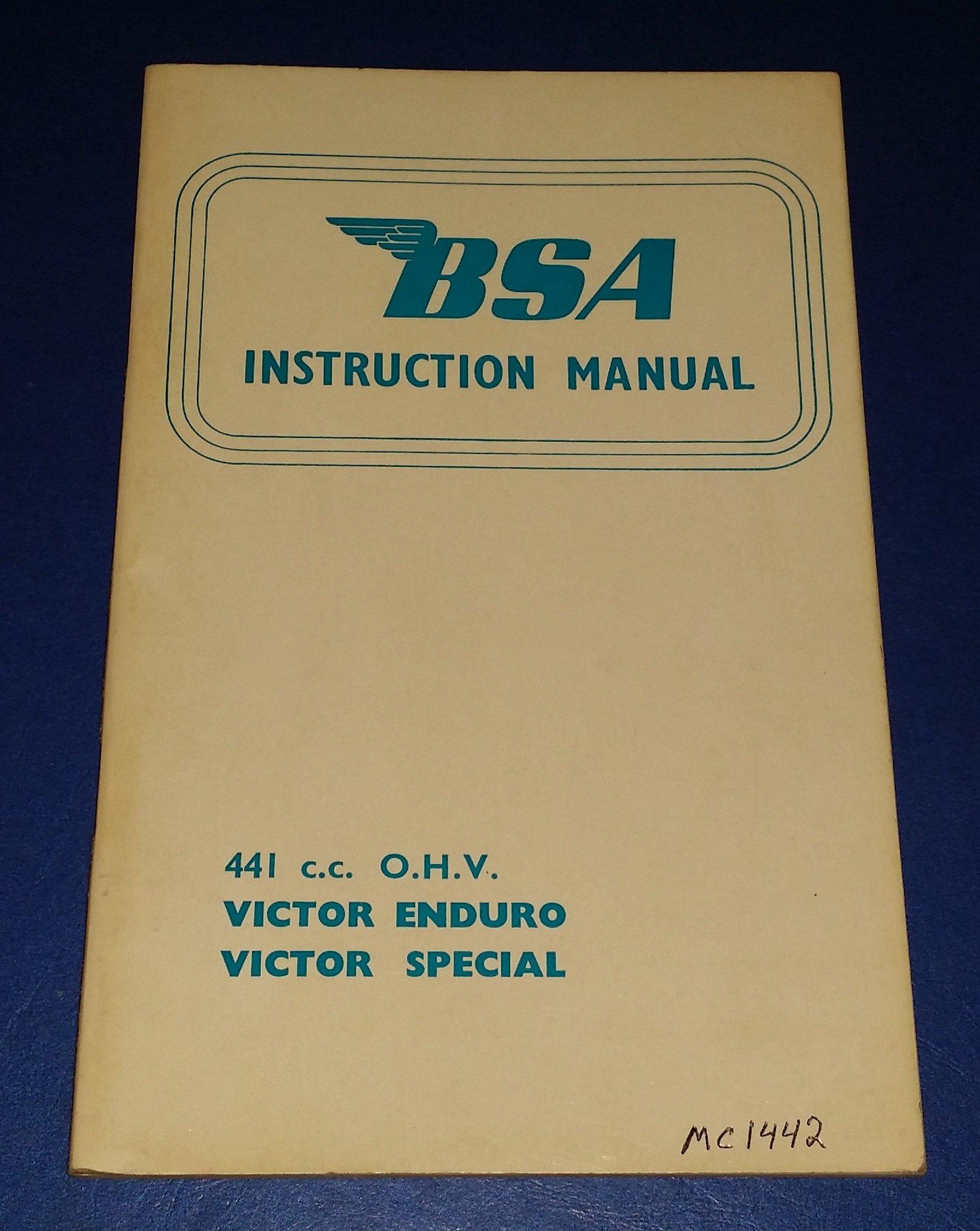 Bsa B 40 Shop Manual