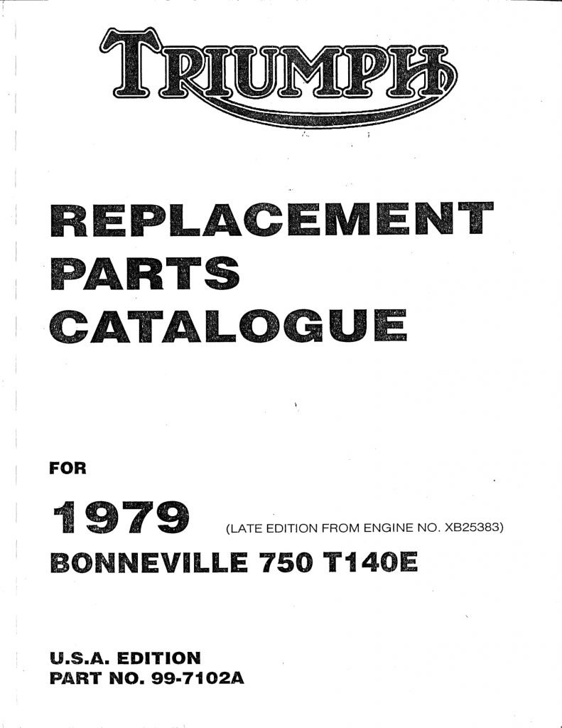 1979 Bonneville T140E USA EDITION