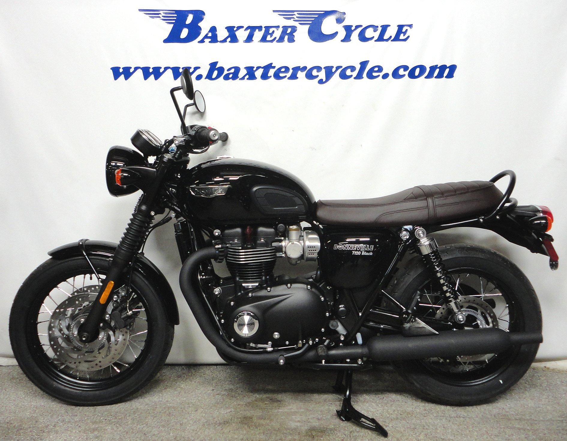 2018 Triumph T120 Bonneville Black Baxter Cycle